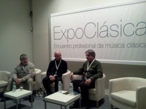 Ramón Paus. Sebastián Mariné y Jacobo Durán -Loriga en la charla de presentación de la AMCC