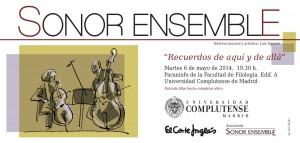 Invitación - Concierto Sonor Ensemble 6.5.2014