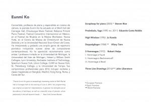 Programa del Recital de Eunmi Ko (b)
