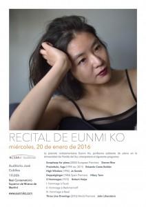 Recital de Eunmi Ko (cartel)