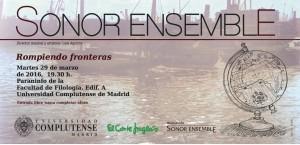Invitación Sonor Ensemble 29.03.2016