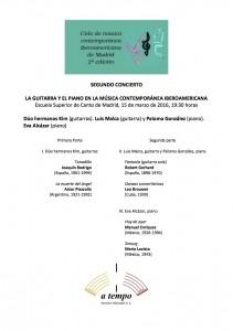 Segundo Concierto del Ciclo de Música Iberoamericana Contemporánea de Madrid (1)