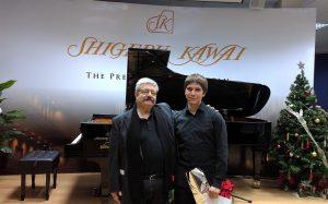 Miguel Bustamante y Carlos Marín Rayo en Shigeru Kawai Center, 23-12-2016.