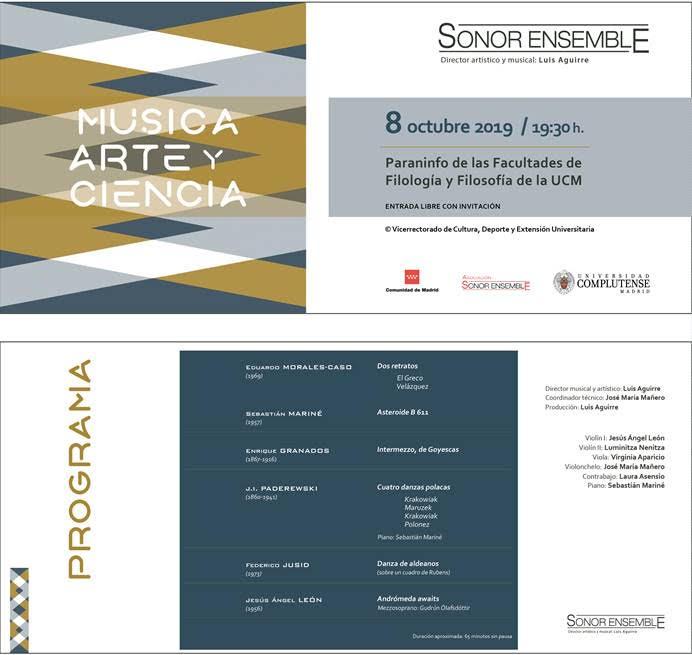 Sonor Ensemble en Complutense con obras de Jusid, Mariné, Morales Caso, León…