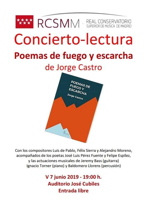 Poemas de Fuego y Escarcha, de Jorge Castro, en el RCSMM